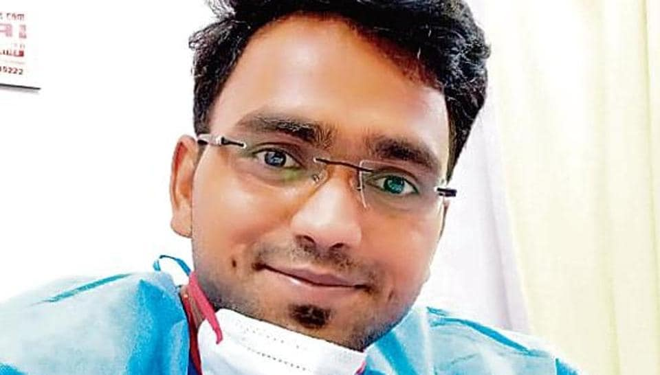 Yogesh Dhakad, who shares a rented flat in east Delhi's Pandav Nagar with a friend, had been deployed in the Covid section of RML Hospital when he tested positive for the disease on April 18.