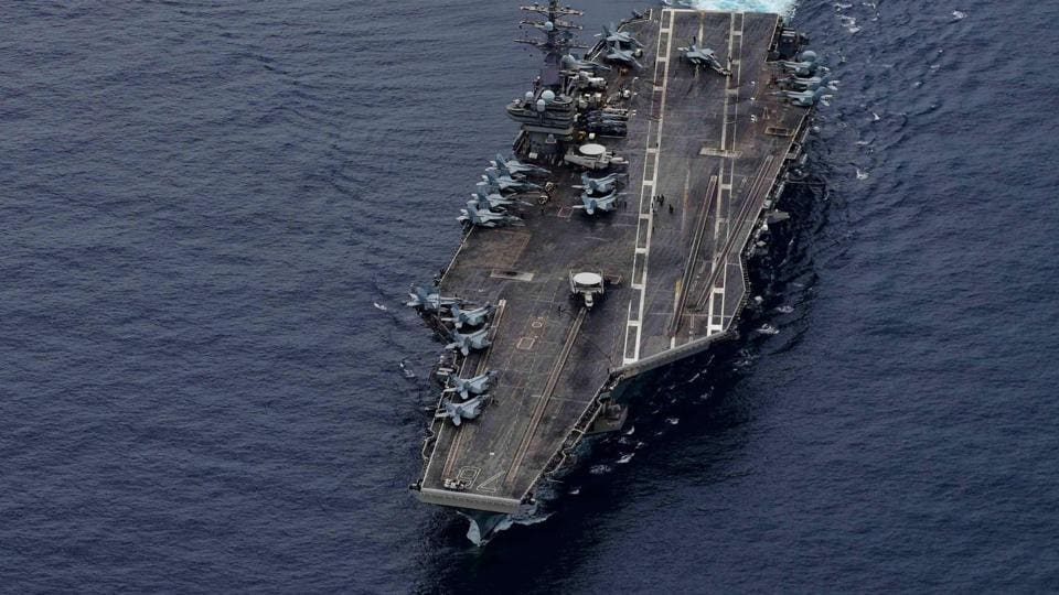 The USSRonald Reagan in the South China Sea on July 4.