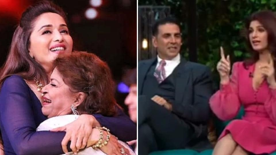 Madhuri Dixit posted a heartfelt note on Saroj Khan on Guru Purnima and Twinkle Khanna's hilarious Koffee With Karan throwback video has resurfaced online.
