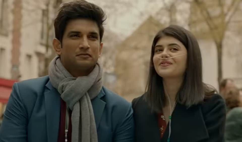 Dil Bechara trailer:Sushant SinghRajput and Sanjana Sanghi in a still from the film.
