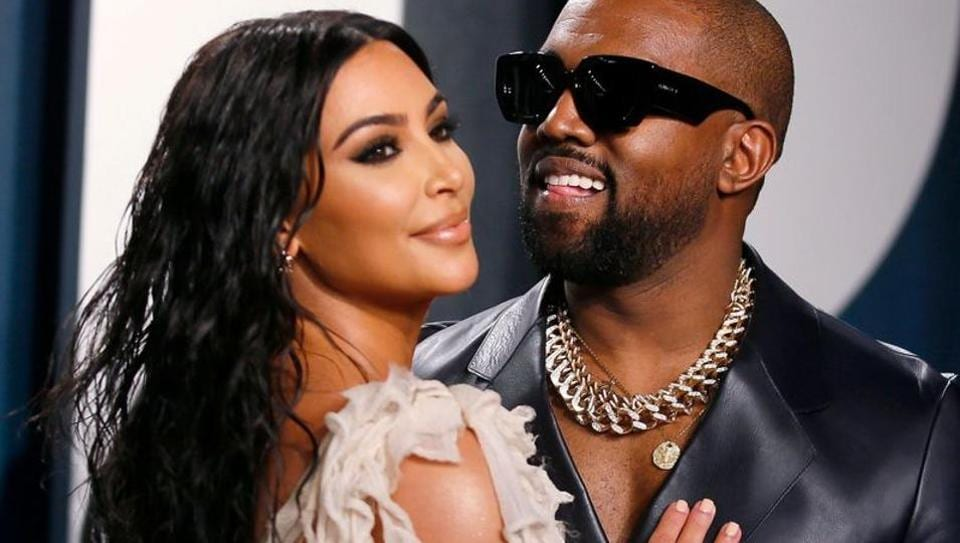 Kim Kardashian and Kanye West attend the Vanity Fair Oscar party in Beverly Hills during the 92nd Academy Awards, in Los Angeles, California.