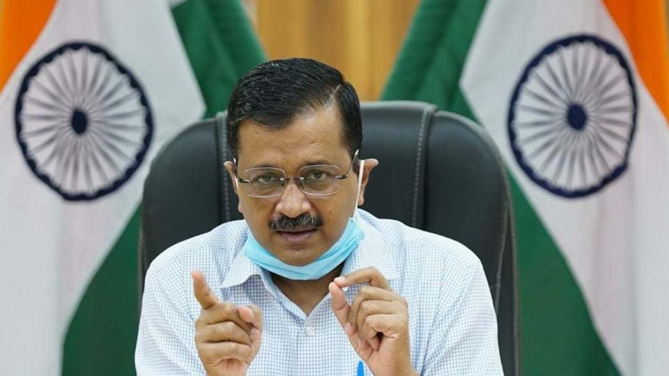 Delhi chief minister Arvind Kejriwal during a digital press conference on the coronavirus situation in the national capital.