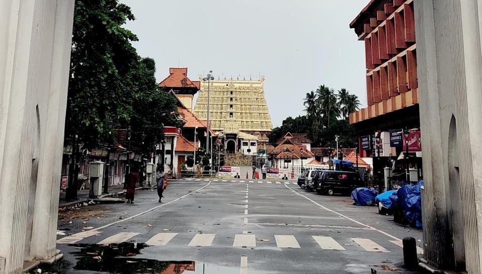 A deserted road in Kerala capital  Thiruvananthapuram  during the 'triple lockdown',  Monday, July 6, 2020.