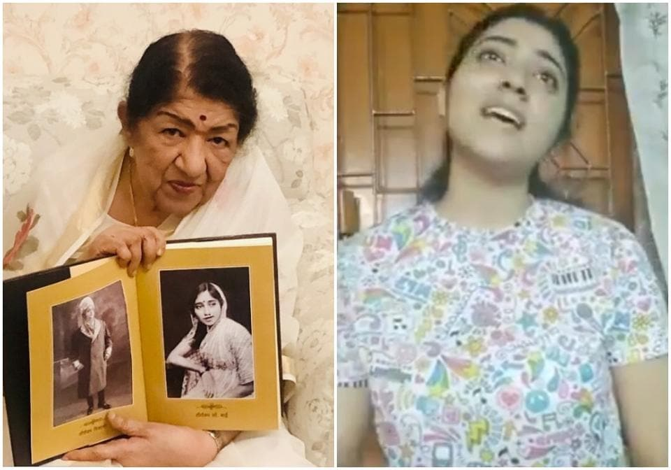lata Mangeshkar tweeted about a young singer on Tuesday.