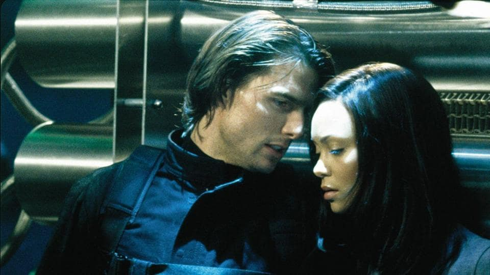 Tom Cruise and Thandie Newton in a still from Mission: Impossible 2.