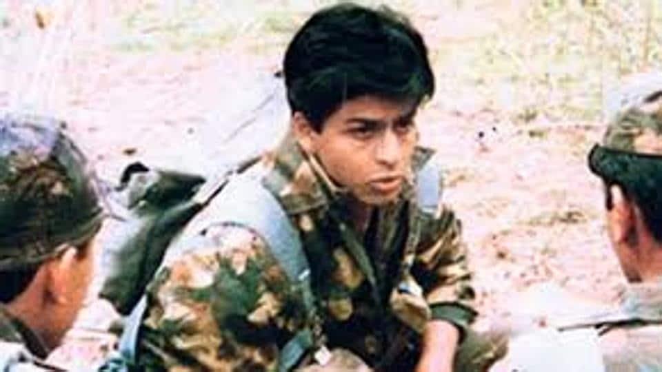Shah Rukh Khan in Fauji.