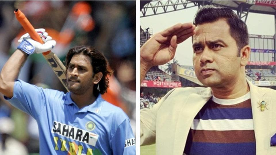 File image of MS Dhoni and Aakash Chopra.