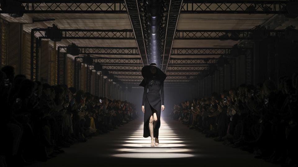 FILE - In this March 1, 2020 file photo, a model wears a creation for the Givenchy fashion collection during Women's fashion week Fall/Winter 2020/21 presented in Paris. The coronavirus pandemic has instilled extra unpredictability into the already fickle Paris Fashion Week. After first canceling the July shows for menswear and Haute Couture, the French fashion federation has now organized an unprecedented schedule of digital-only events instead. (Representational)