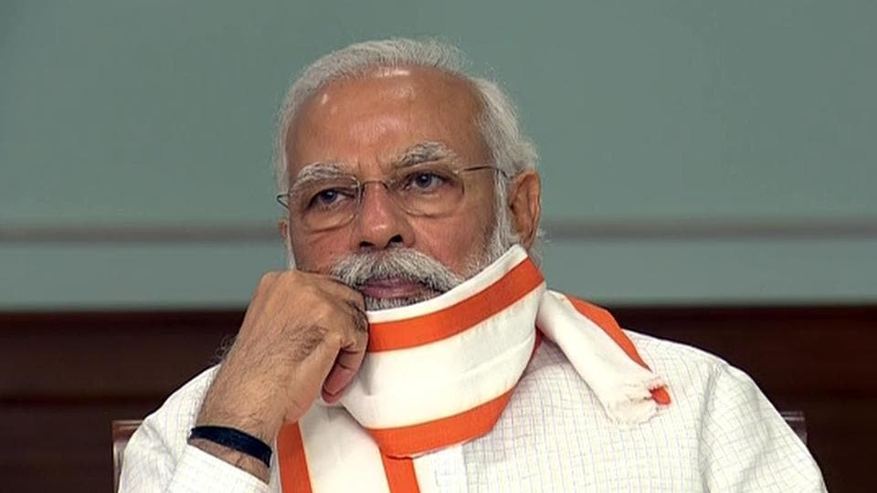 The Congress said PM Modi's stand contradicted past remarks by defence minister Rajnath Singh and foreign minister S Jaishankar on Chinese intrusion.