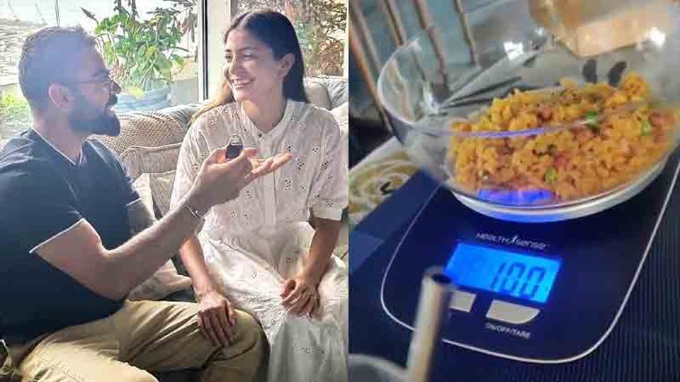 Anushka Sharma shows how Virat Kohli ensures 'measured eating' in their house