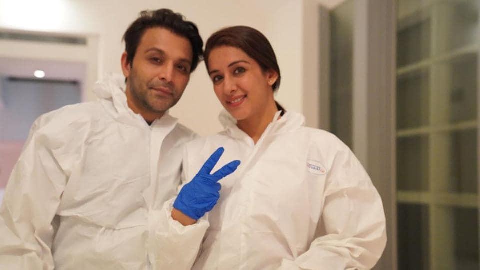 Shael Oswal and Sameksha Singh in Singapore.