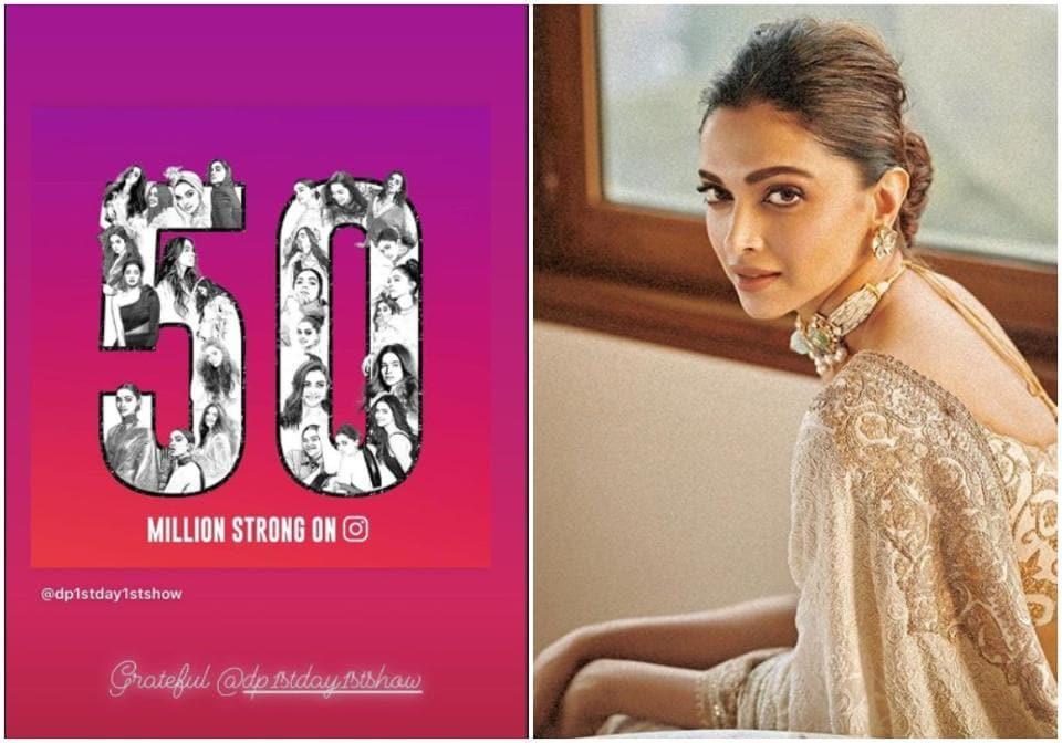 Deepika Padukone crosses 50 million mark on Instagram, becomes third Indian to do so