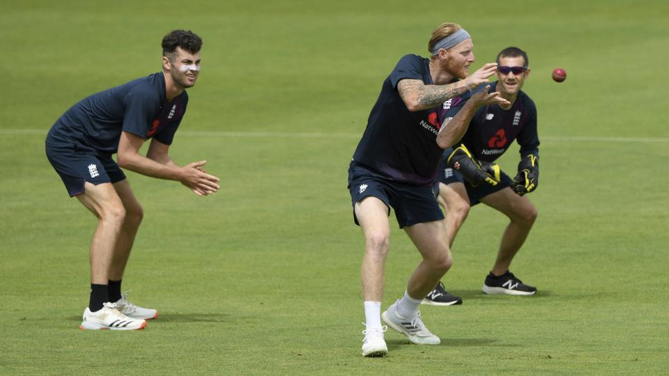 Southampton: England captain Ben Stokes takes a catch in the slips during a nets session at the Ageas Bowl in Southampton, England, Tuesday July 7, 2020. England are scheduled to play West Indies in their first Test match on July 8-12. AP/PTI(AP07-07-2020_000172B)