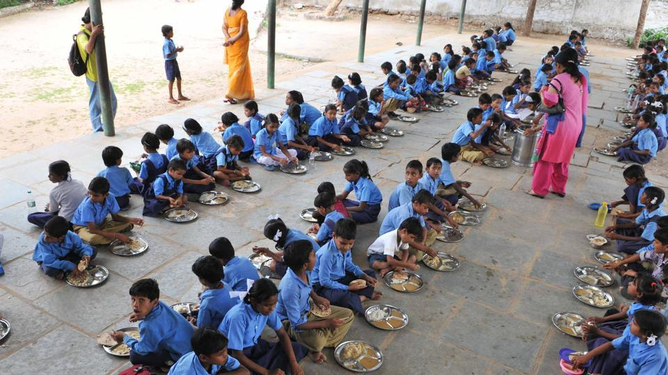 The mid-day meal scheme is a school meal programme of the Government of India designed to better the nutritional standing of school-age children nationwide.