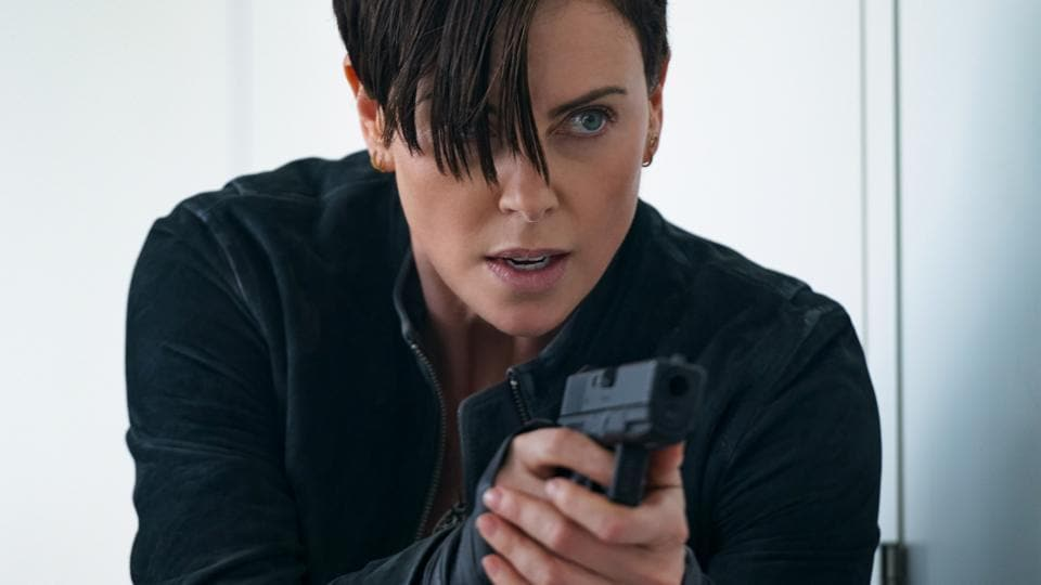 Charlize Theron as Andy, in a still from Netflix's The Old Guard.