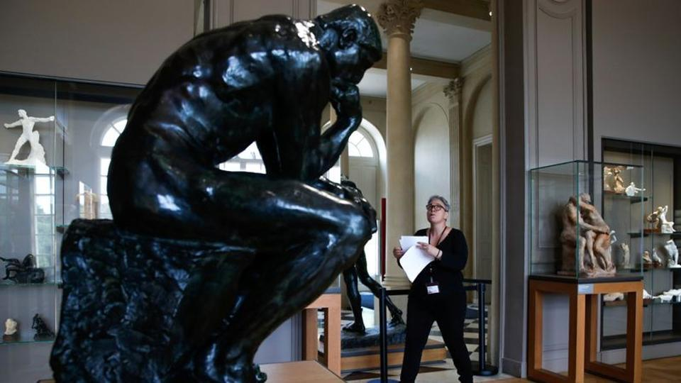 An employee checks a room at the Rodin museum in Paris on the eve of its reopening after almost 4-month closure due to the coronavirus disease (COVID-19) outbreak in France, July 6, 2020.
