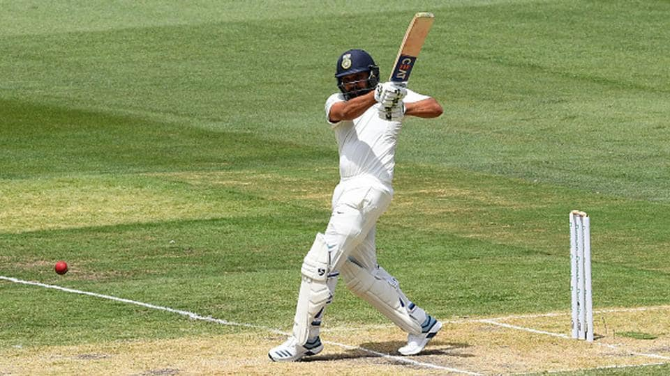 India's Rohit Sharma in action against Australia in 2018/19.