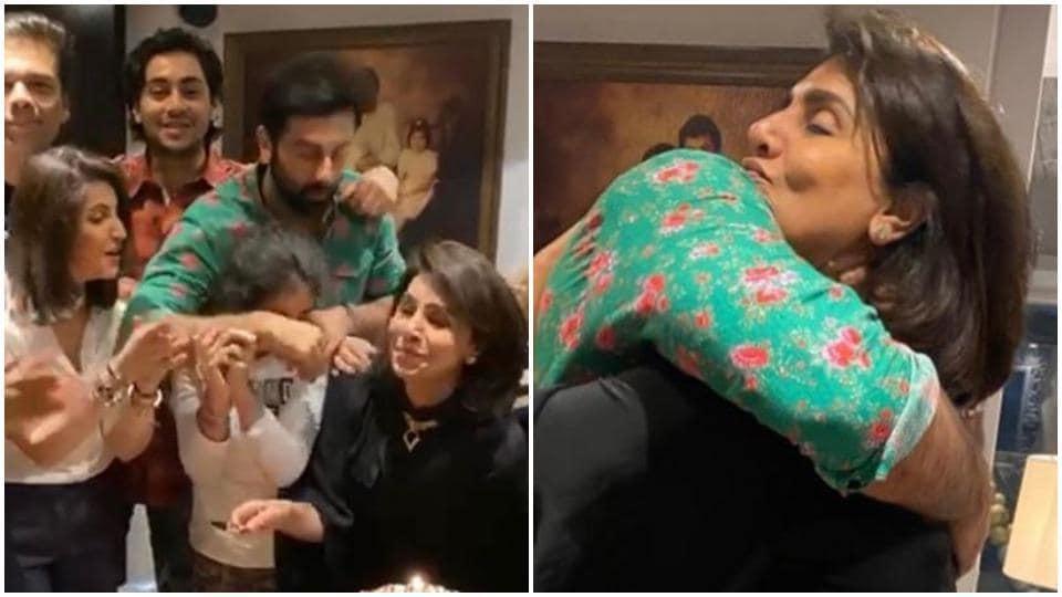 Karan Johar, Ranbir Kapoor joined Neetu Kapoor for her birthday party on Wednesday.