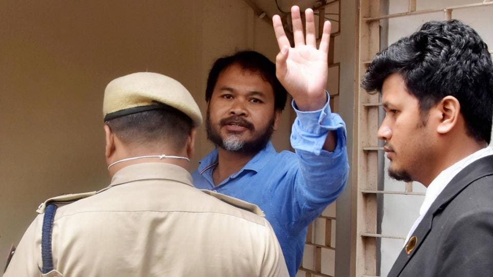Krishak Mukti Sangram Samiti (KMSS) advisor Akhil Gogoi was arrested in Upper Assam's Jorhat on December 12, 2019, for his alleged role during the nationwide protests against the CAA.