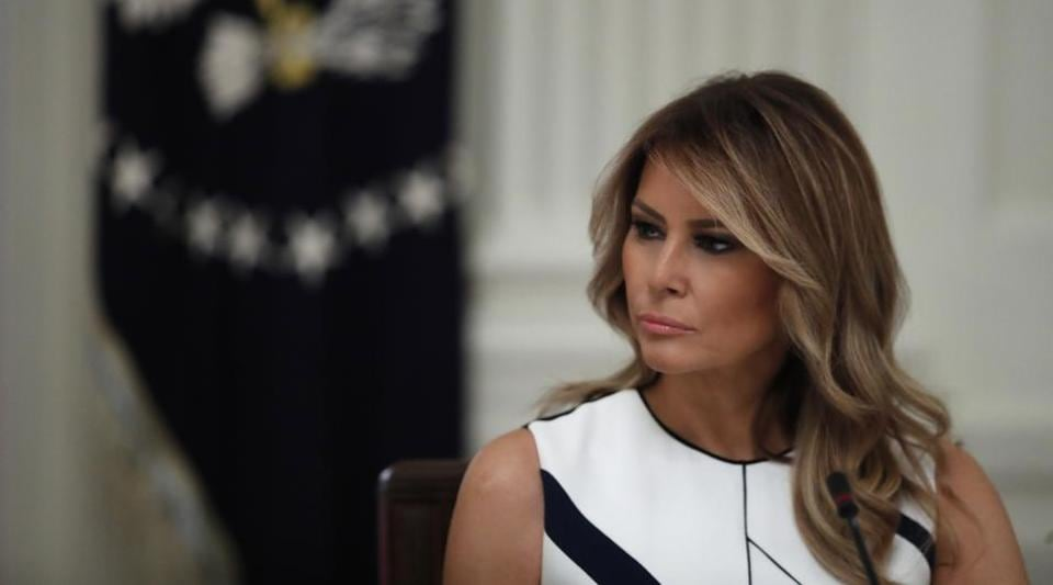 First lady Melania Trump during a