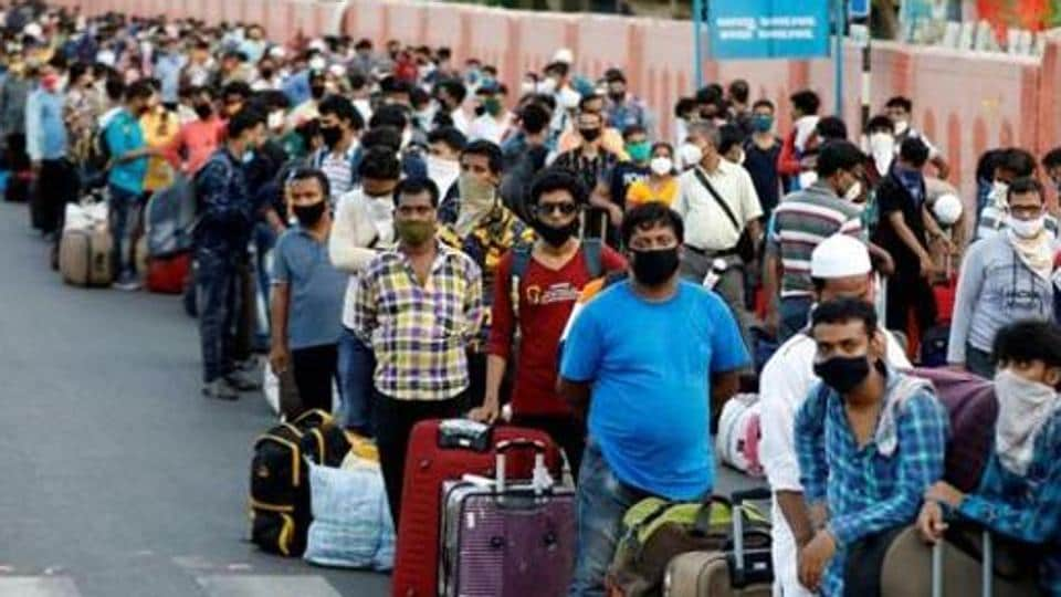 Migrants had fled from cities in large numbers after the imposition of nationwide lockdown to fight coronavirus.