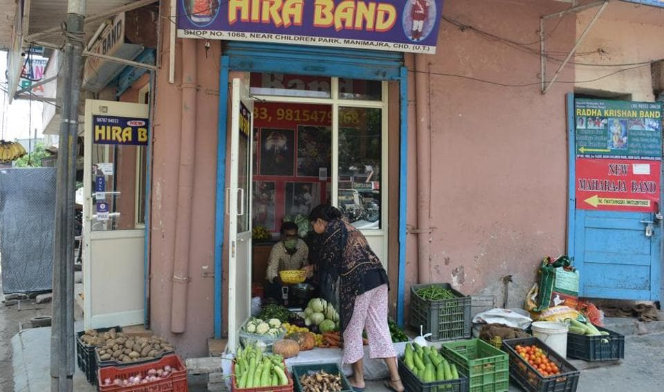 Hira Band's work space at Manimajra has now been turned into a vegetable shop.