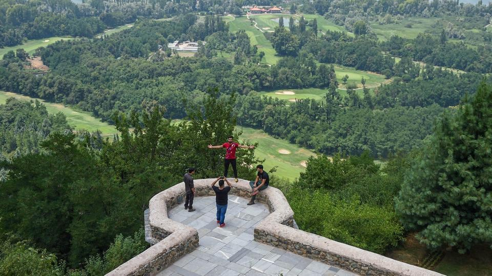 Srinagar: Visitors at Mughal Garden after the authorities decided to reopen it for tourists, during Unlock 2.0, in Srinagar, Wednesday, July 8, 2020.