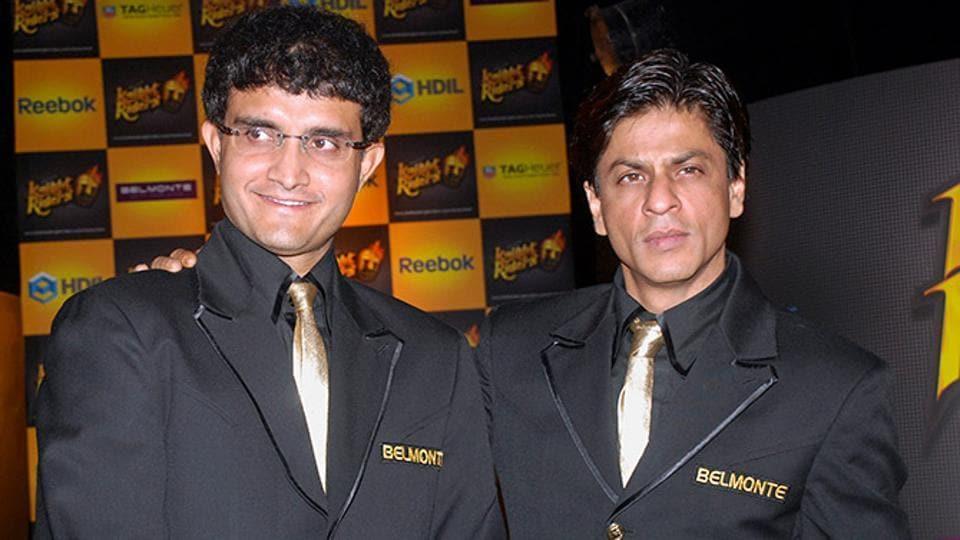 Sourav Ganguly and Shah Rukh Khan.