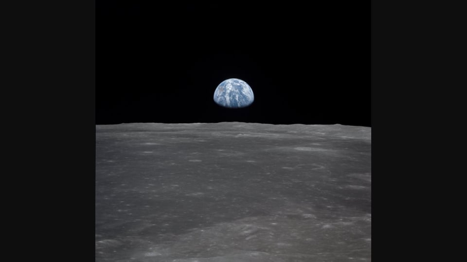 The image was taken from the Apollo 11 spacecraft in 1969.