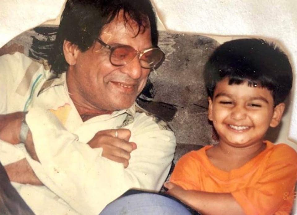 Meezaan Jaaferi with his grandfather, legendary actor Jagdeep.