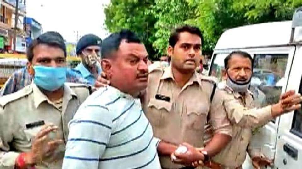 Vikas Dubey was arrested outside the Mahakal temple at Ujjan on Thursday