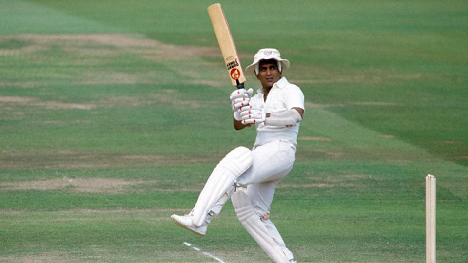 Sunil Gavaskar batting for Rest of the World XI during his innings of 188 in the MCC Bicentenary match. File image.