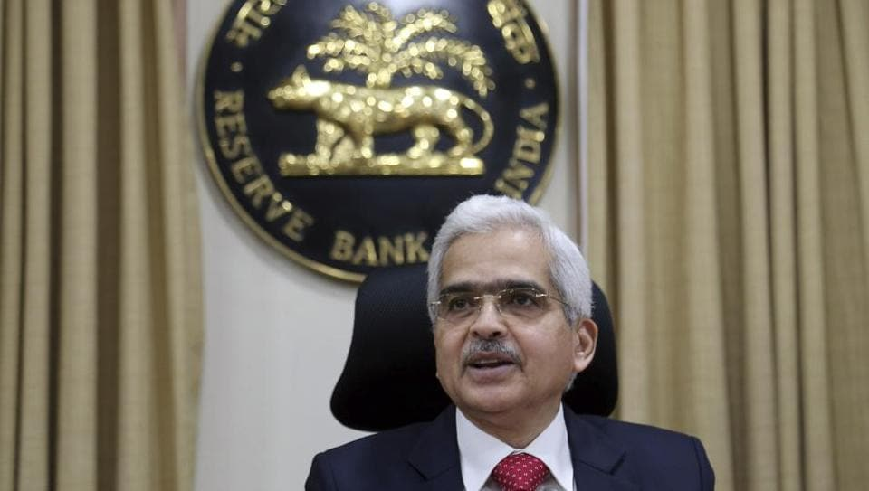 FILE - In this Aug. 7, 2019, file photo, Reserve Bank of India (RBI) Governor Shaktikanta Das speaks during a press conference in Mumbai, India.