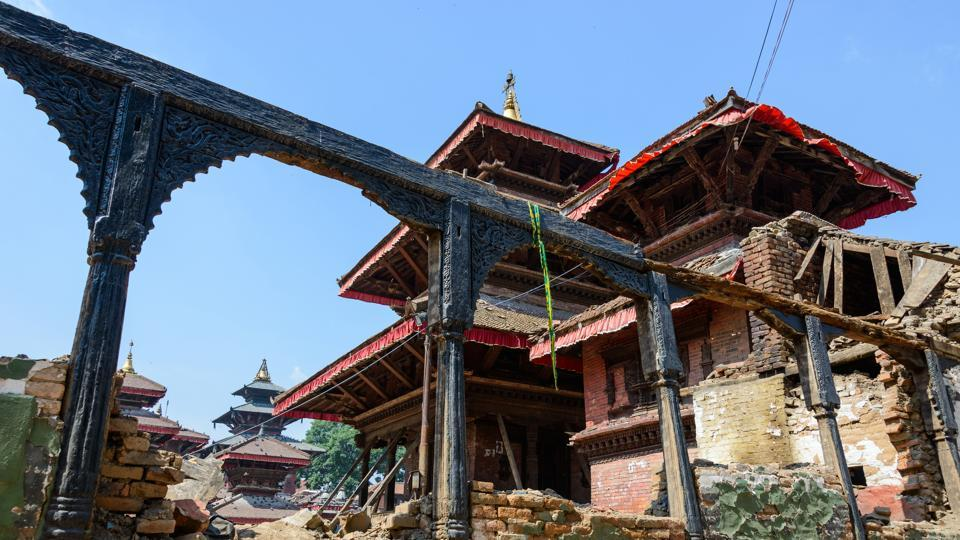 Durbar Square in Kathmandu in the aftermath of Nepal earthquake of 2015.