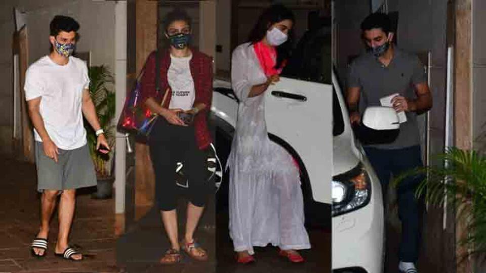 Sara Ali Khan, Ibrahim, Soha Ali Khan-Kunal Kemmu spotted leaving Saif Ali Khan's house post a get-together.... - Hindustan Times
