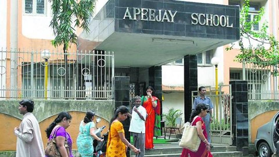 Two branches of Apeejay School-- Saket and Sheikh Sarai-- were sealed by the Delhi government's education department on May 4- Photo by Sudipta Banerjee