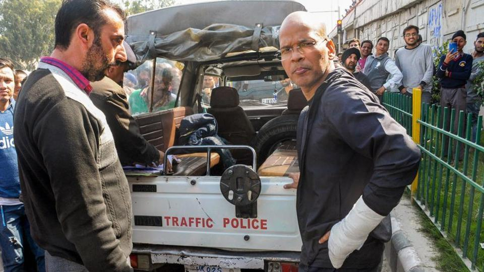 """Suspended IGP Basant Rath (right) was suspended by the Union home ministry earlier this month and said in order that disciplinary proceeding is being considered in connection with """"repeated instances of gross misconduct and misbehaviour""""."""