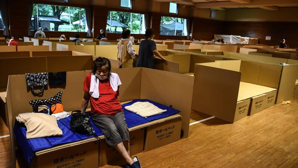 Masks, disinfectant, social distancing: Japan responds to floods amid Covid-19