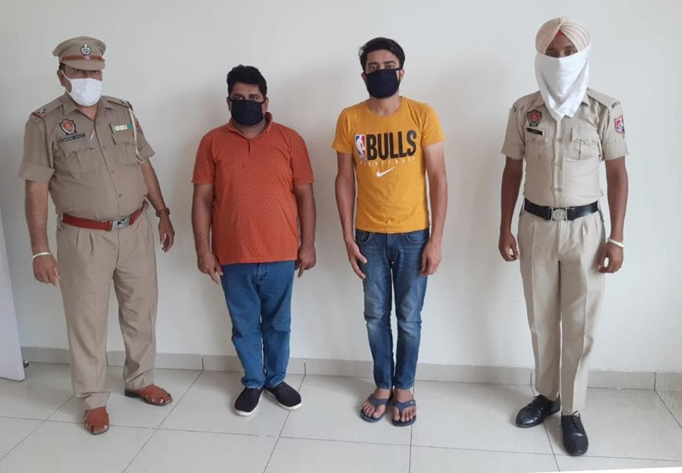 Two men accused of drug peddling in special task force  custody at Ludhiana on Saturday.