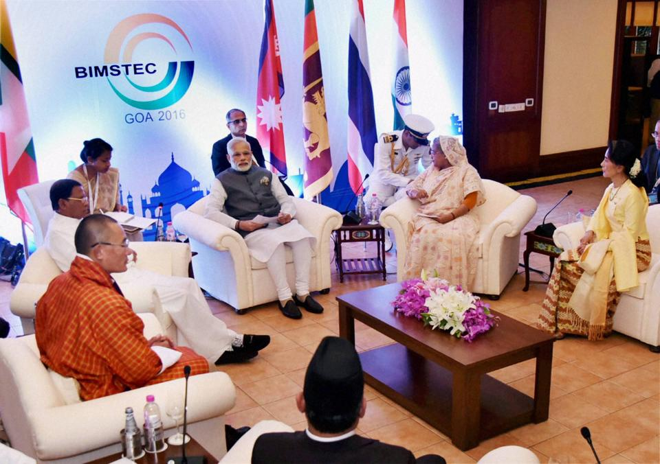India has sought to promote the counter balancing regional institutions such as Bimstec