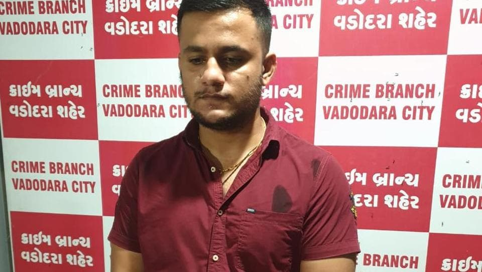 Shubham Mishra was detained by the police in Vadodara on Sunday.