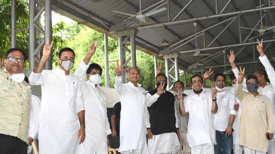 Rajasthan political crisis: Congress leaders have spent a sleepless night to reach out to each legislator and allies to get them to support Ashok Gehlot.