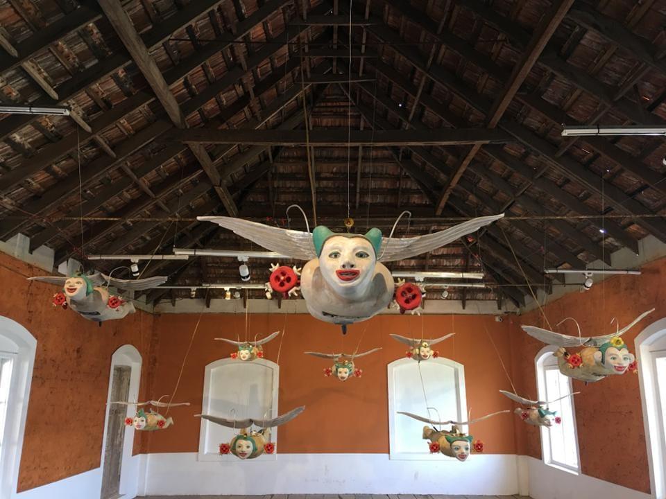 Wild and wonderful:An installation at the Kochi Muziris Biennale.