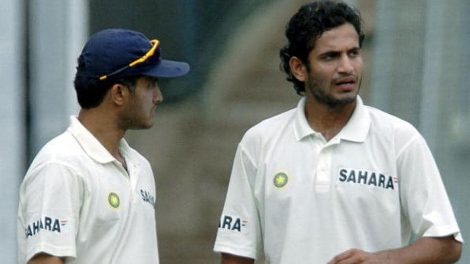 Sourav Ganguly and Irfan Pathan playing for India in 2004.