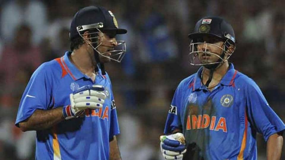 File image of MSDhoni with Sourav Ganguly.