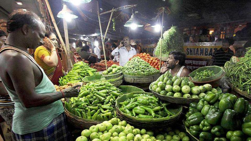 Vegetable price inflation grew at 1.9%, the lowest in fifteen months according to the Centre for Monitoring Indian Economy database.