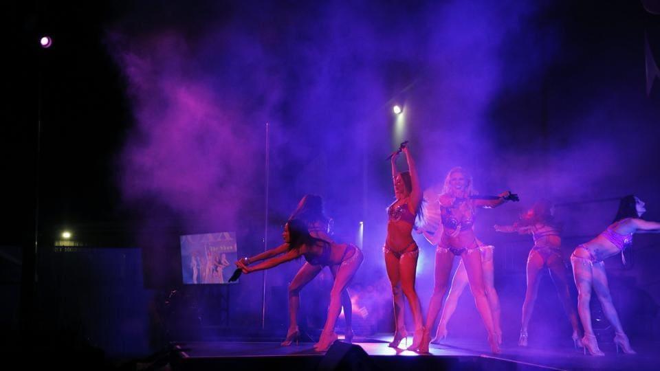Dancers perform at
