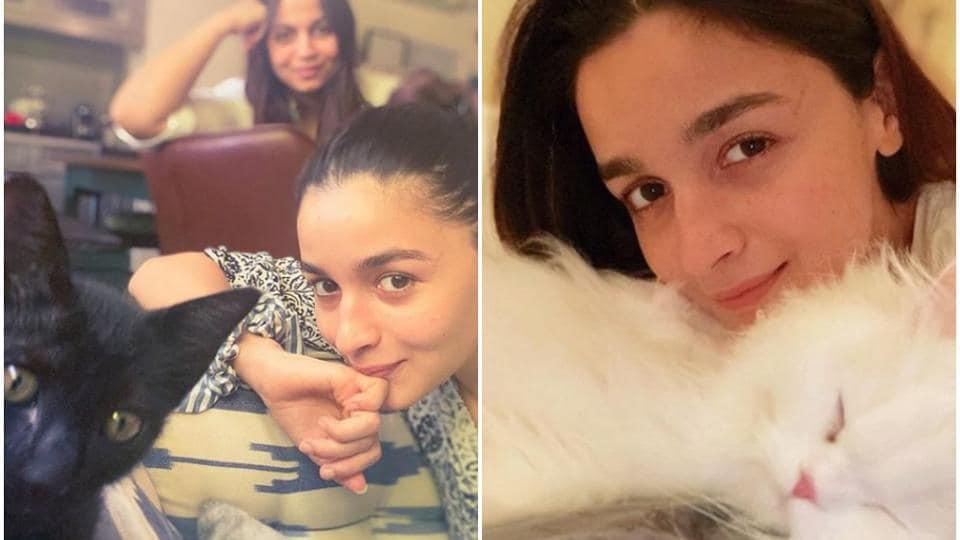 Alia Bhatt shared a new picture of herself with one of pets on Instagram.