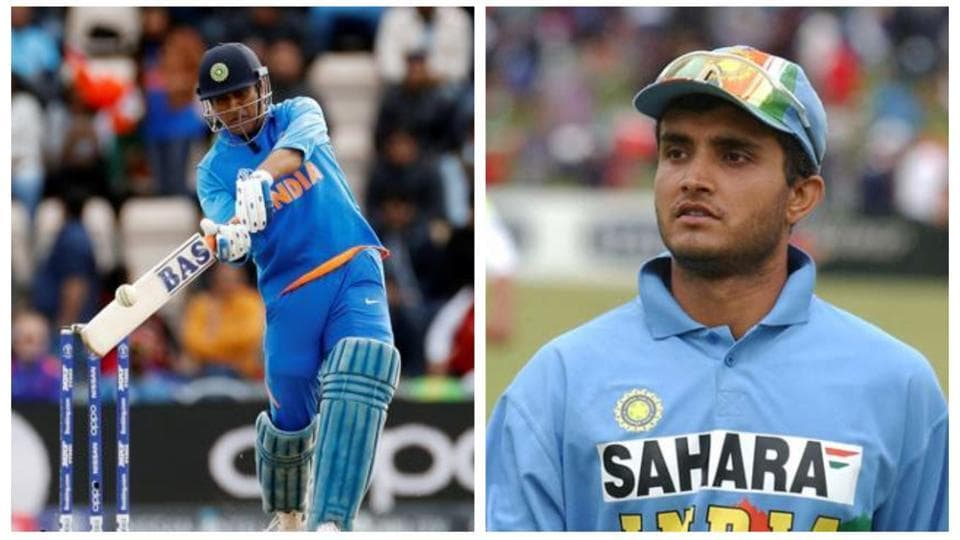 MS Dhoni and Sourav Ganguly.