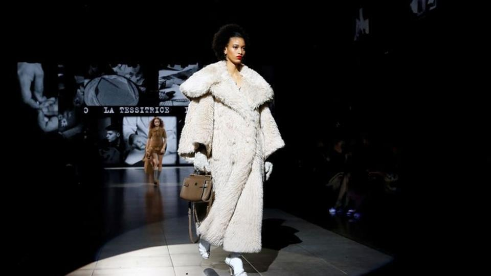 FILE PHOTO: A model presents a creation from the Dolce & Gabbana Autumn/Winter 2020 collection during Milan Fashion Week in Milan, Italy February 23, 2020.  (Representational)
